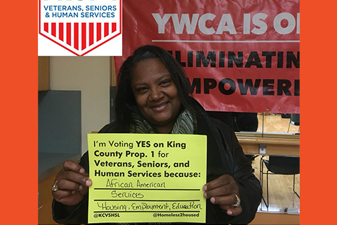 YWCA endorsed King County Proposition 1 to improve housing and homeless services.
