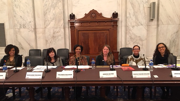 Maria Chavez Wilcox joining YWCA executives from across the country in Washington, D.C.