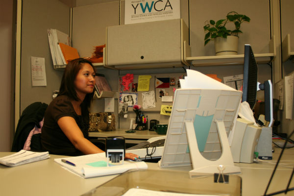 Sheila works at YWCA's office in SeaTac airport