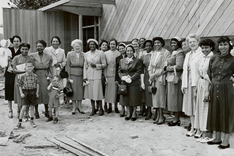 Historic YWCA photo featuring a group of African American women