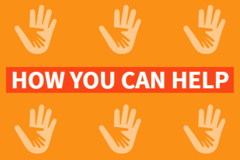 "Graphic that says ""How you can help"" with hand icons"