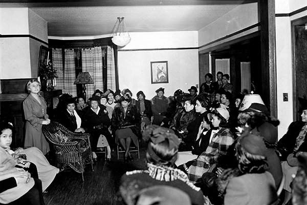 Open house at Seattle Phyllis Wheatley Branch, 1942