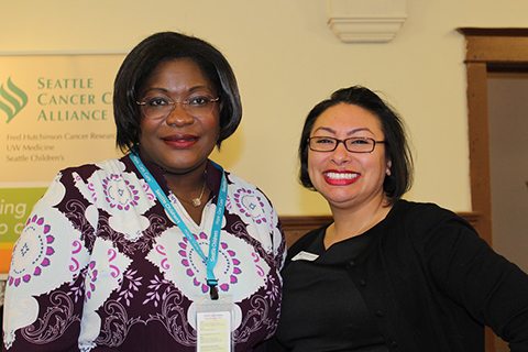 A picture of two YWCA staff members