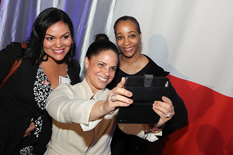 Luncheon attendees with Soledad O'Brien