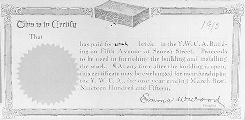 Certificate from brick sale fundraiser