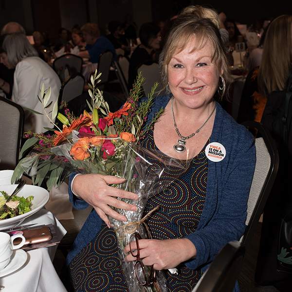 Mindy Woods after being honored as a speaker at the YWCA 2018 Inspire Luncheon