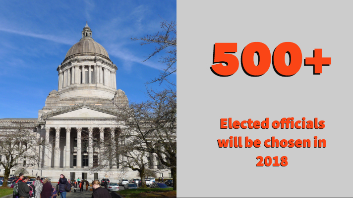 500+ elected officials will be chosen in 2018