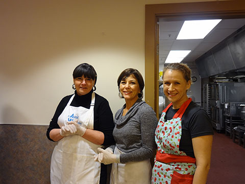 Volunteers at Angeline's lunch service