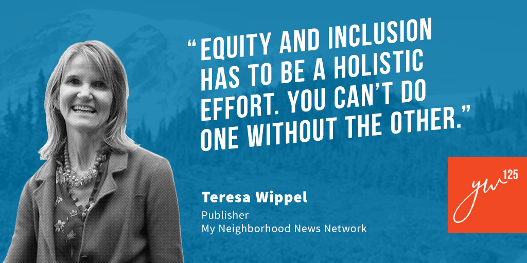 Equity and inclusion has to be a holistic effort. You can't do one without the other.