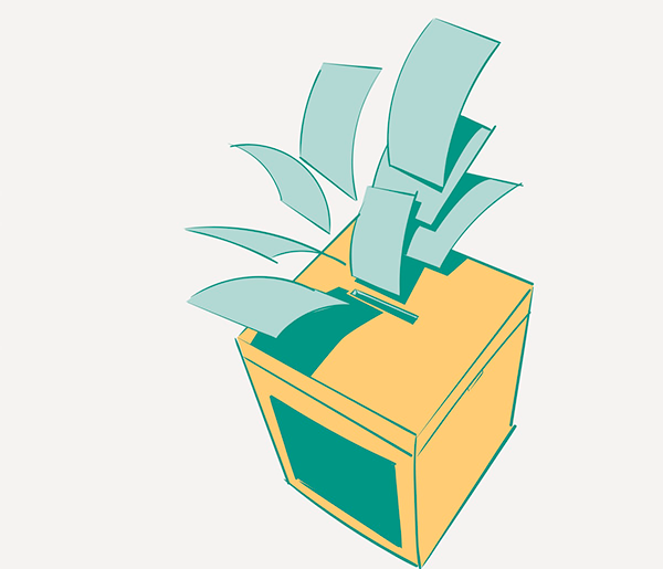 Ballot box is pictured