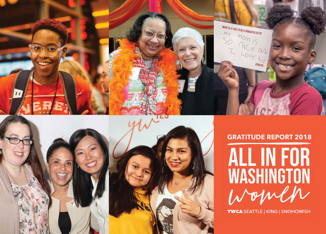 "YWCA Gratitude Report 2018 - ""All In for Washington Women"""