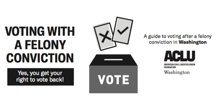 ACLU has a helpful guide to get your right to vote restored if you're no longer on community supervision.